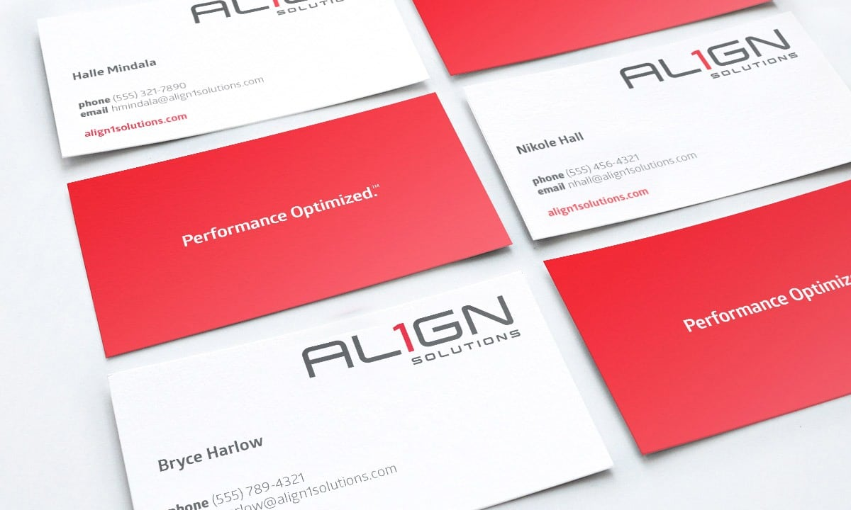 BCBD Align1 Solutions Business Cards