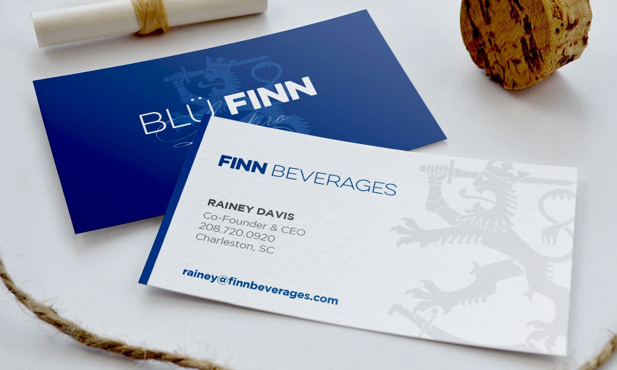 BCBD Blü Finn Beverages Business Cards