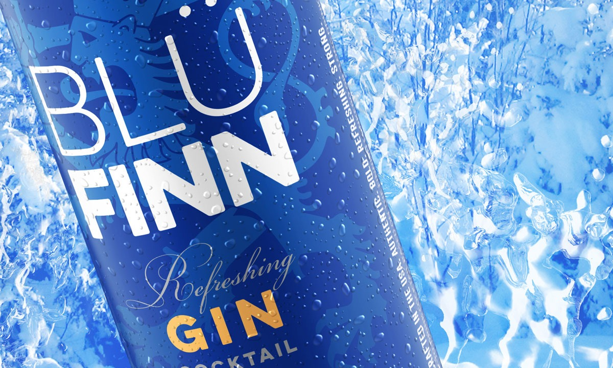 BCBD Blu Finn Gin Cocktail Beverage Can