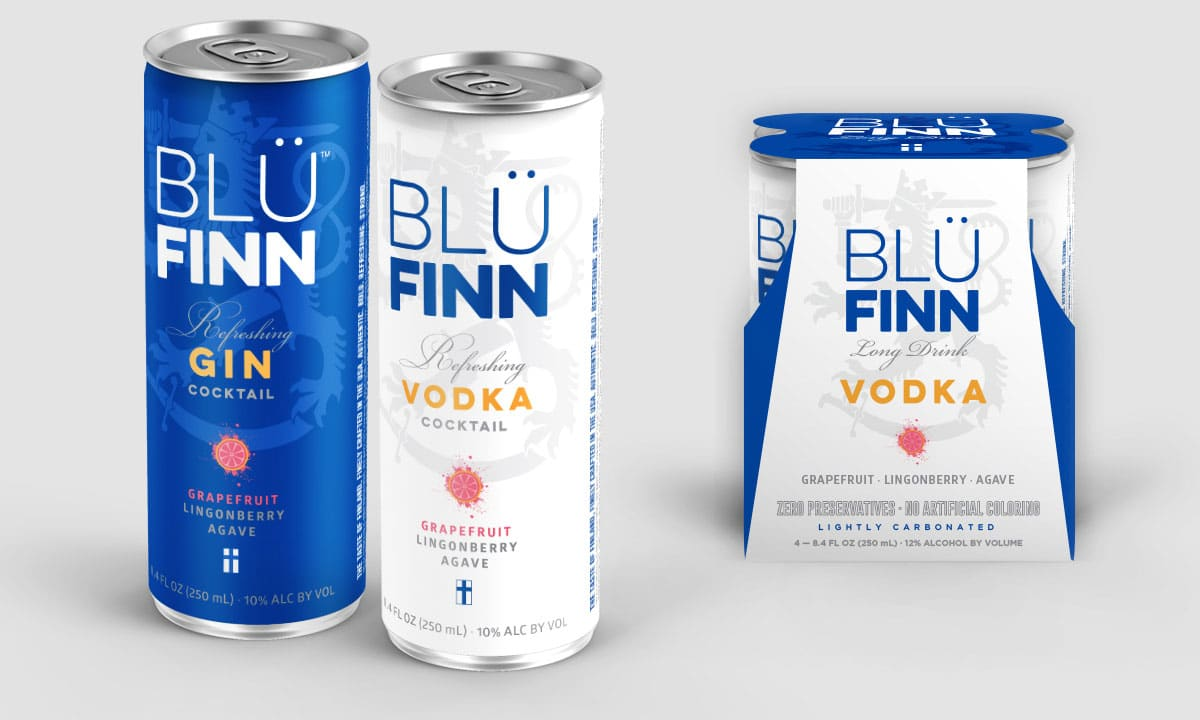 BCBD Blü Finn Gin and Vodka 4 Pack