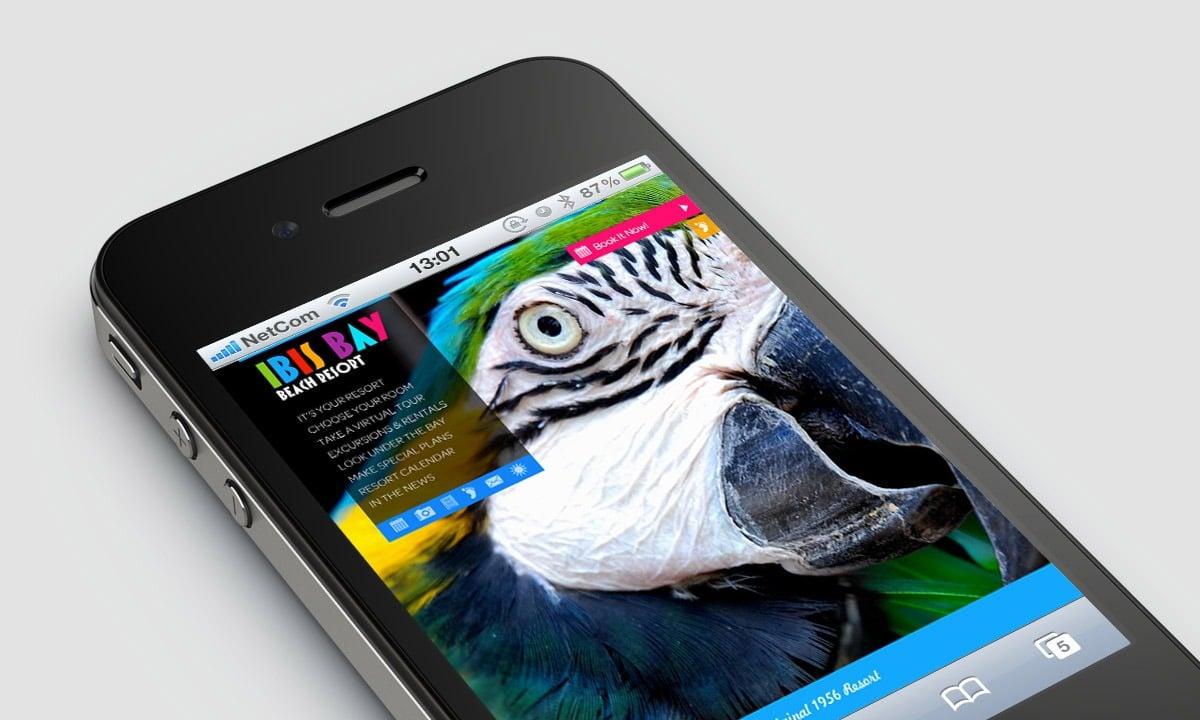 BCBD Ibis Bay Resort Website Mobile