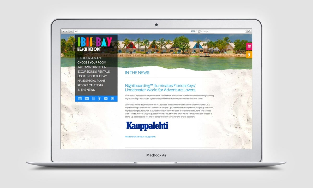 BCBD Ibis Bay Resort Website Blog