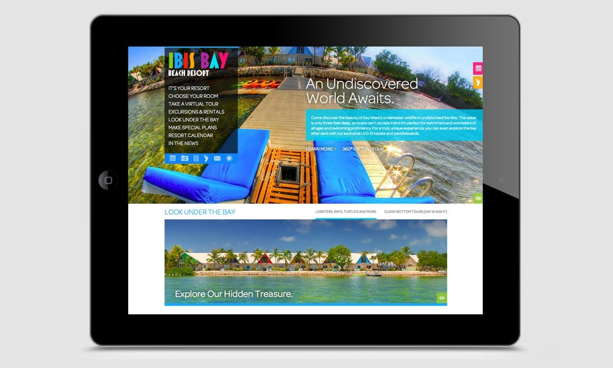 BCBD Ibis Bay Resort Website Tablet