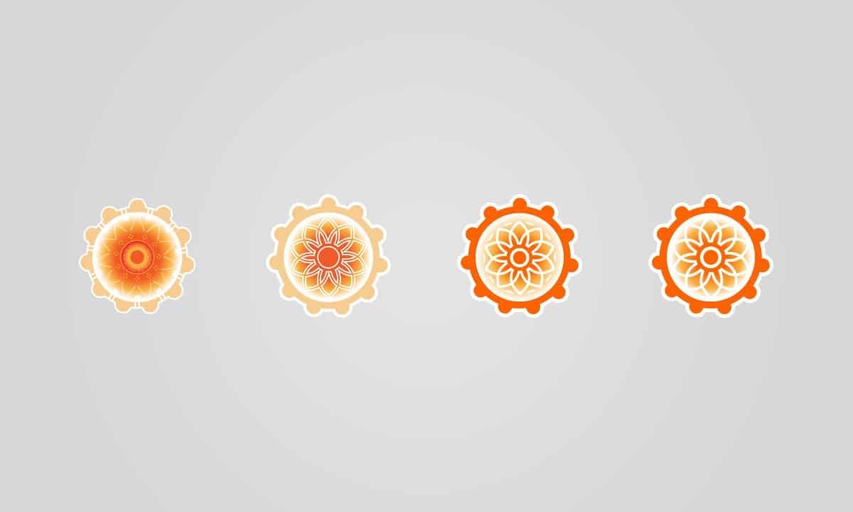 BCBD Temple Turmeric Mandala Logo Evolution