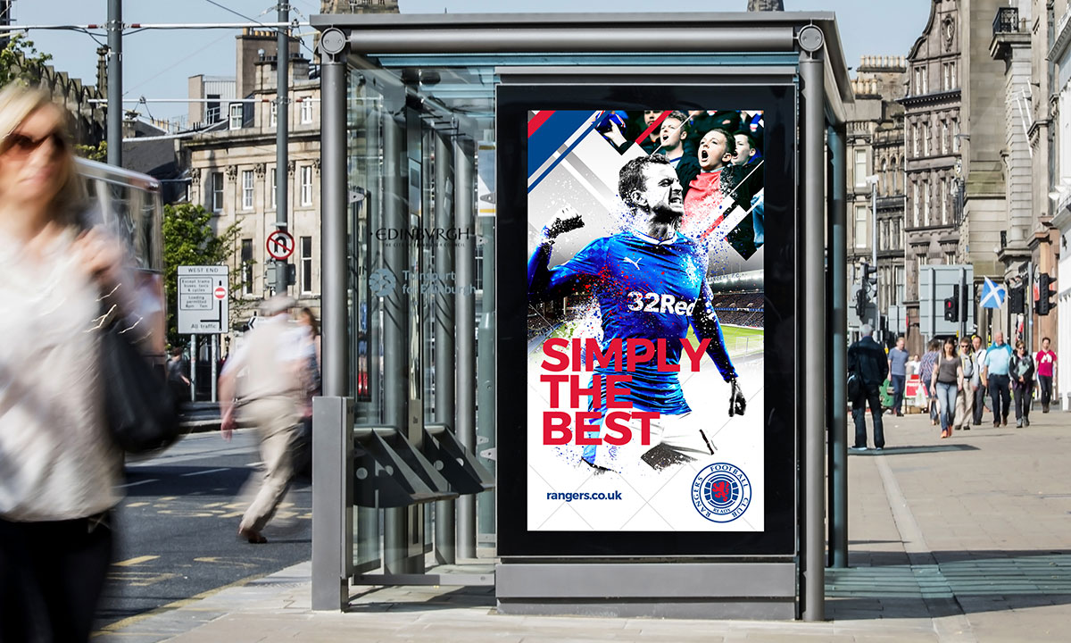 BCBD Brand Strategy Case Study Rangers FC Bus Ads