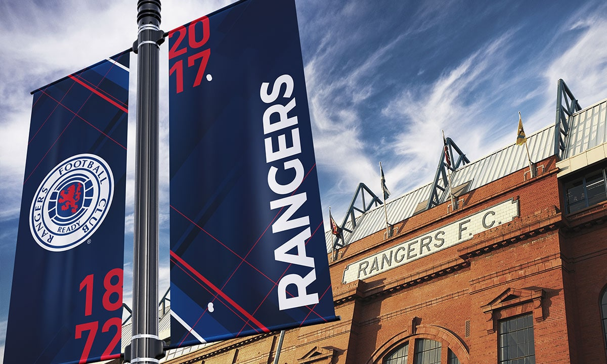 BCBD Brand Strategy Case Study Rangers FC Ibrox Banners
