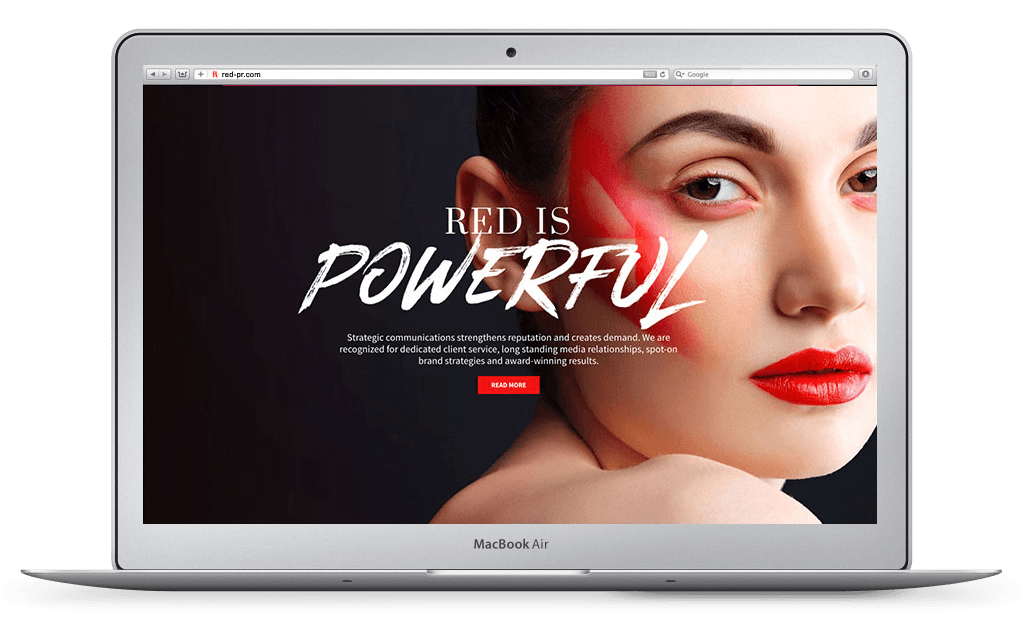 RED PR Website Design