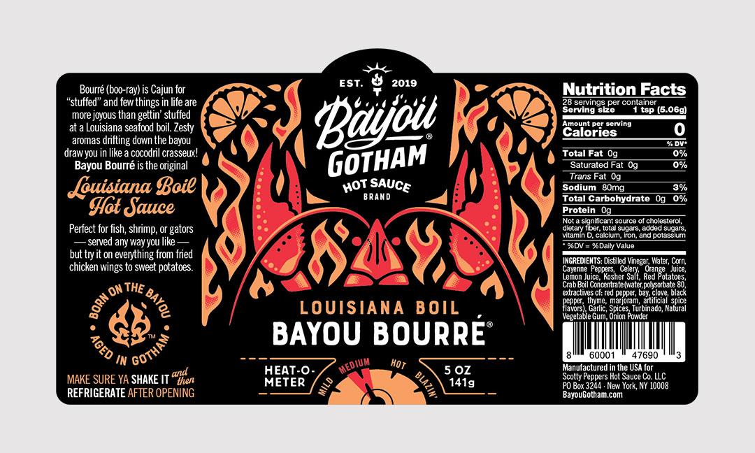 BCBD Bayou Bourré Label