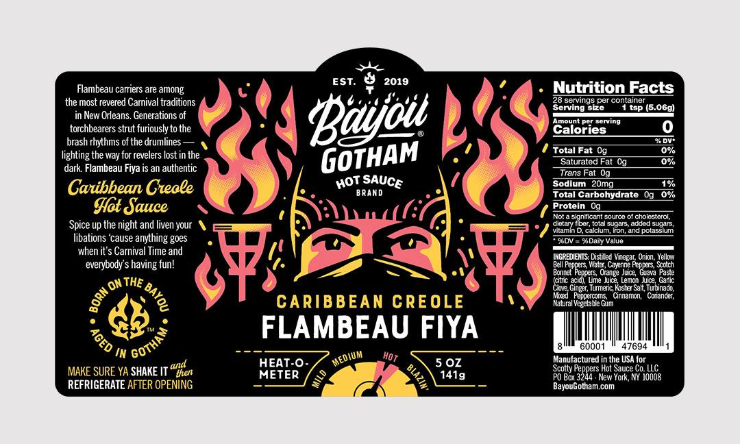 BCBD Flambeau Fiya Label