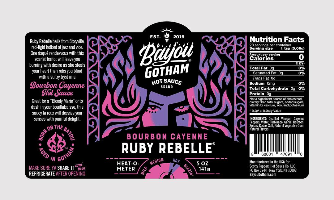 BCBD Ruby Rebelle Label